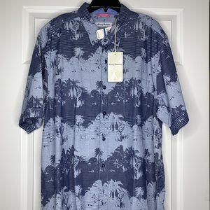 New Tommy Bahama Mens Size XL Pixel Palms SS Shirt